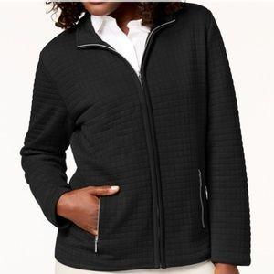 Karen Scott black quilted jacket